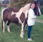 RDA pony Tonto and Catherine - 9yo. 'I was convinced I was Doris Day in Calamity Jane.'