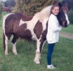 RDA pony Tonto and Catherine - 9yo. 'I was convinced I was Doris Day in Calamity Jane.'