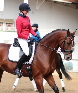 Kristina Alina Kutting, enjoying her well earned harmony with a very sensitive horse.